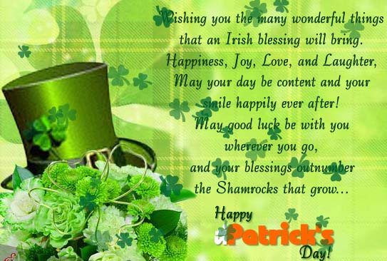 Wishing You All The Luck Of The Irish Free Happy St Patricks Day ECards 123 Greetings