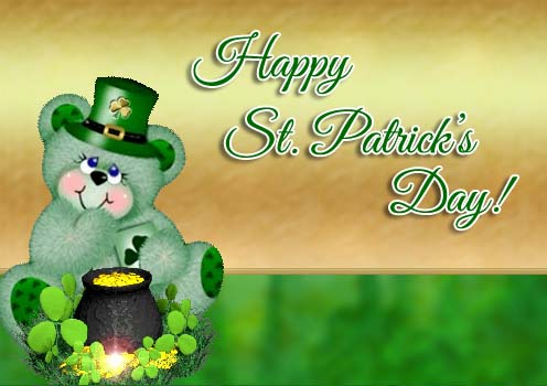 Happy St Patricks Day Teddy Bear Free Happy St Patricks Day ECards 123 Greetings