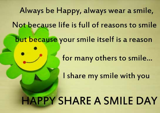 Happy Amp Warm Share A Smile Day Free Share A Smile Day