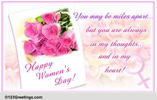 International Women's Day Family Cards Free International