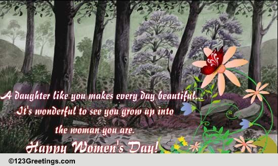 Women's Day Wish For A Daughter Free Family ECards