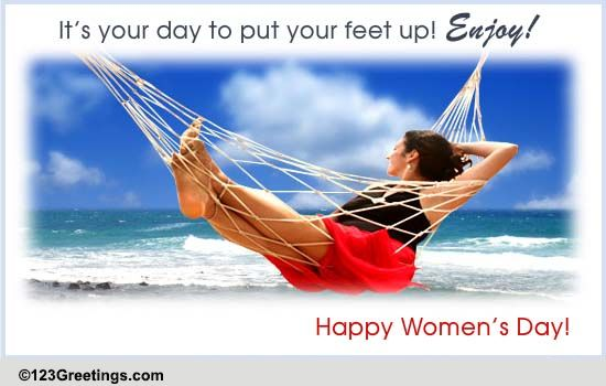 Relaxing Women S Day Free Happy Women S Day Ecards