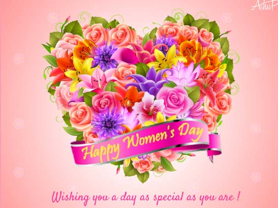 Special Flowers For A Special Woman Free Happy Womens Day ECards 123 Greetings