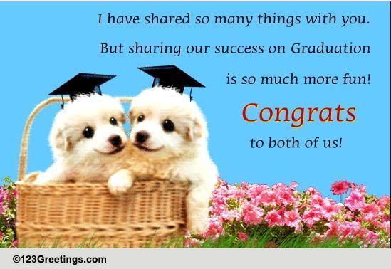 congratulations to both of