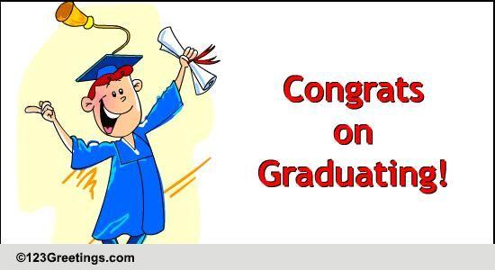 Congrats On Graduating Free Congratulations ECards Greeting Cards 123 Greetings
