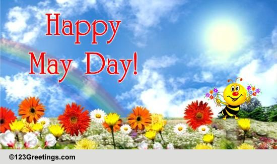 Wishes For A Bright And Happy May Day Free May Day ECards 123 Greetings