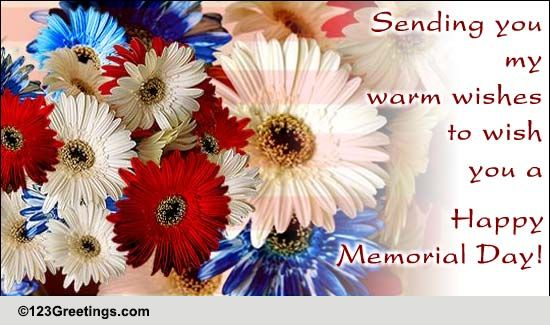 Happy Memorial Day Free Wishes ECards Greeting Cards 123 Greetings