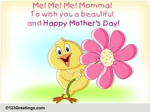 Wish Your Mom On Mother's Day Free Family ECards