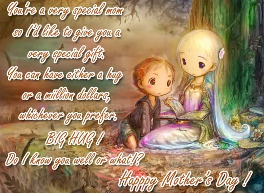 Mother's Day Hug For You Free Hugs ECards Greeting Cards