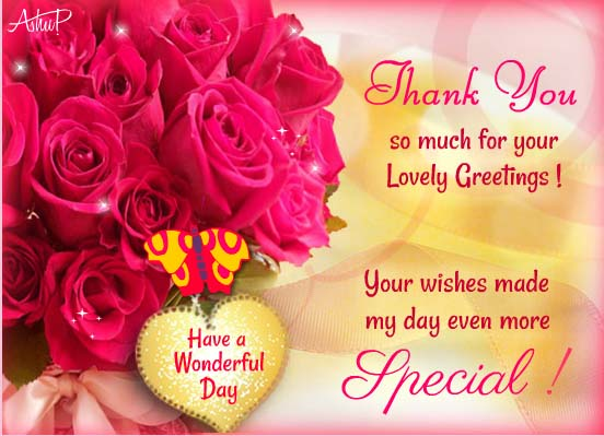 Thanks For Making My Day Special! Free Thank You ECards