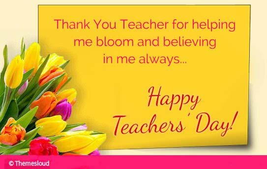 Say Thanks To Your Teacher Free Teachers' Day ECards