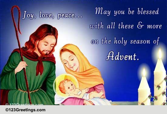 Holy Season Free Advent ECards Greeting Cards 123 Greetings