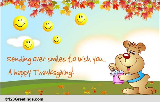 Thanksgiving Smileys Free Friends ECards Greeting Cards 123 Greetings