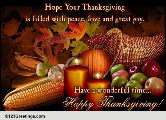 Thanksgiving Cards Free Thanksgiving Wishes Greeting Cards  123 Greetings
