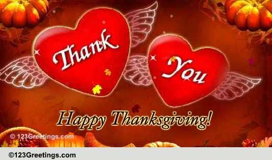 Thanksgiving Angel Free Happy Thanksgiving ECards Greeting Cards 123 Greetings