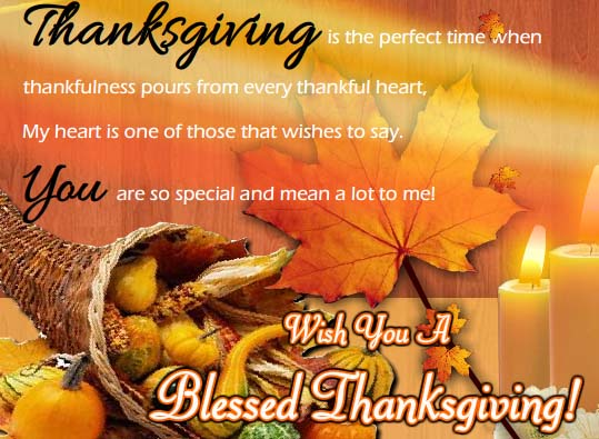 You Mean A Lot To Me Free Happy Thanksgiving ECards Greeting Cards 123 Greetings