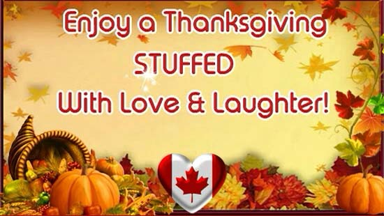 Happy Thanksgiving For Canada Free Happy Thanksgiving ECards 123 Greetings