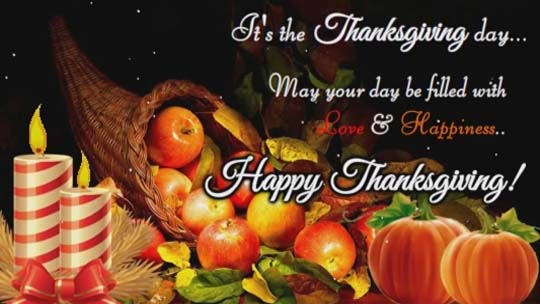 ItS The Thanksgiving Day Free Happy Thanksgiving ECards 123 Greetings