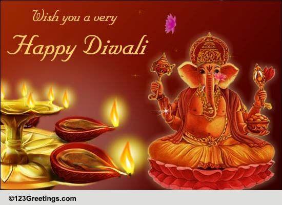 Lord Ganesh Diwali Blessings Free Happy Diwali Wishes