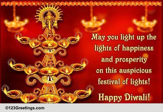 Festival Of Lights Diwali Free Happy Diwali Wishes ECards 123 Greetings