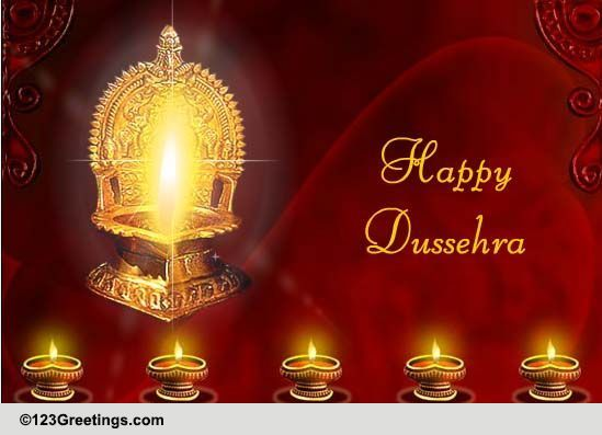A Thoughtful Wish On Dussehra Free Happy Dussehra ECards