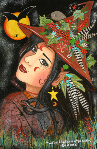 Woodland Witch For Halloween Free Happy Halloween ECards 123 Greetings