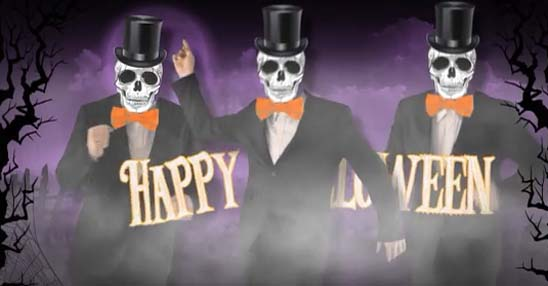 The Skeleton Brothers!! Free Happy Halloween ECards