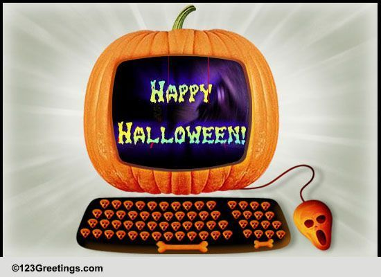 Happy Halloween Wishes! Free At Work Fun ECards Greeting