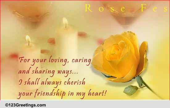 Cherish Your Friendship Free Festival Of Roses CA