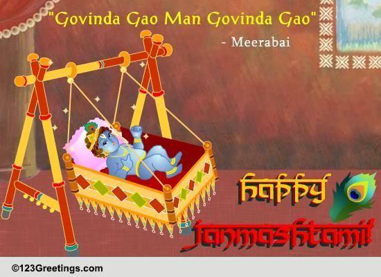 Janmashtami Cards Free Janmashtami Wishes Greeting Cards 123 Greetings