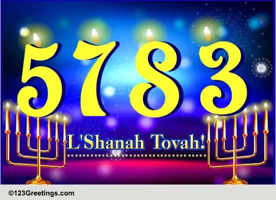 Happy Amp Prosperous Rosh Hashanah Free Formal Greetings ECards 123 Greetings