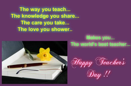 To A Special Teacher Free Teachers' Day India ECards