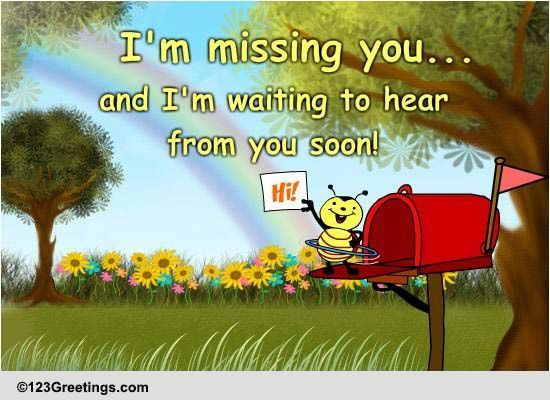Hey! Long Time No Hear! Free Miss You ECards Greeting