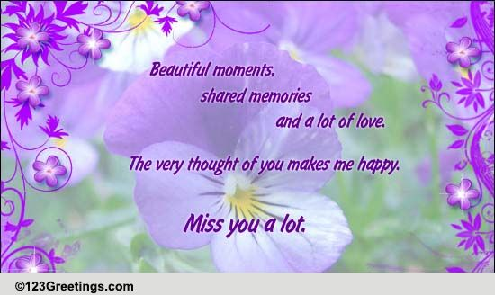 Miss You A Lot Free Sister ECards Greeting Cards 123