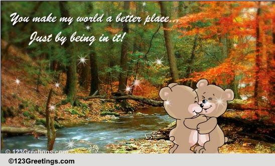 You Make My World Brighter! Free Sister ECards Greeting