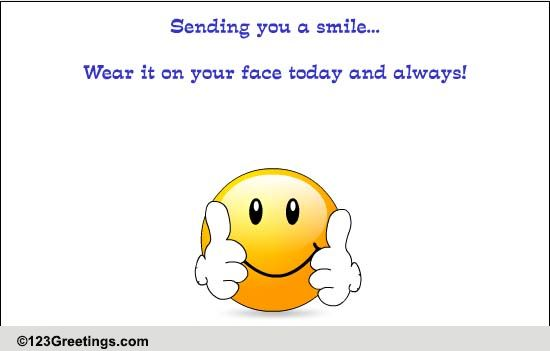 Sending You A Smile! Free Son & Daughter ECards Greeting