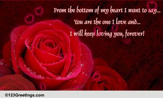 Love You Forever! Free Roses ECards Greeting Cards 123