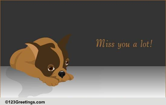 Miss You Loads! Free Miss You ECards Greeting Cards 123