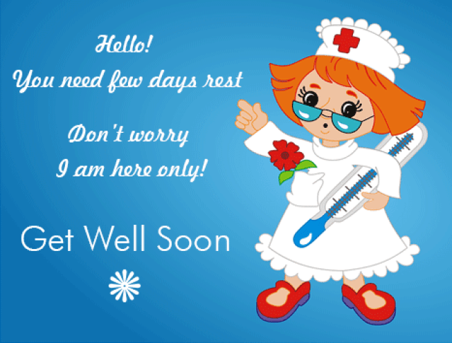 I Am Here, Get Well Soon!! Free Get Well Soon eCards, Greeting Cards | 123 Greetings