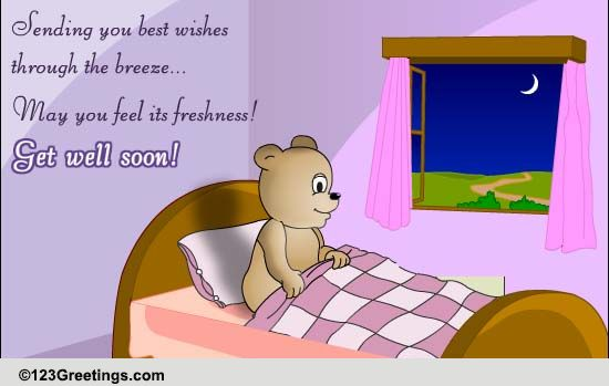 Warm Wishes To Get Well Soon Free Get Well Soon ECards Greeting Cards 123 Greetings