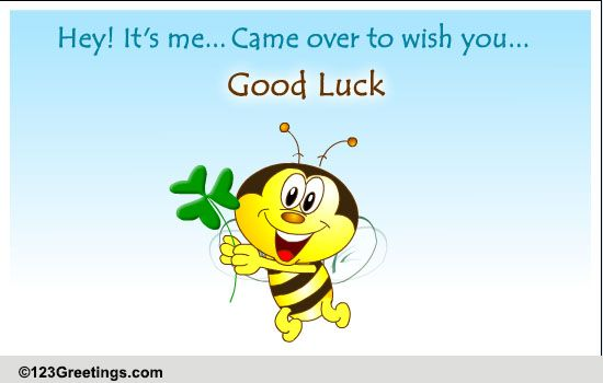 Wish Good Luck Free Good Luck ECards Greeting Cards