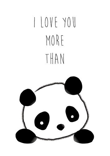 I Love You More Than Panda. Free Thinking of You eCards