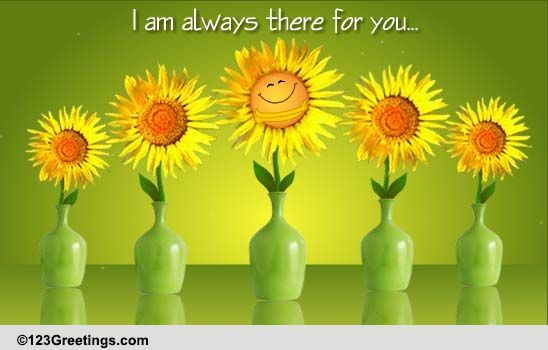 Sunflower Hugs! Free Encouragement ECards Greeting Cards
