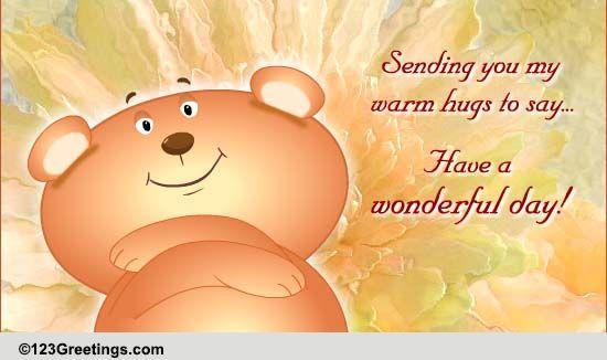 Warm Hugs For Encouragement! Free Encouragement ECards