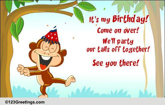 Invitations Birthday Party Cards Free Invitations