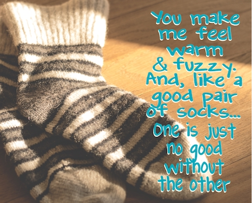 Warm Fuzzy Socks! Free For Couples ECards Greeting Cards