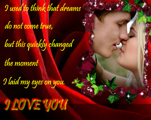 You Are My Dream Come True Free I Love You ECards