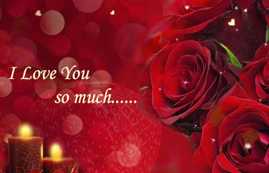 I Love You So Much Free Roses ECards Greeting Cards