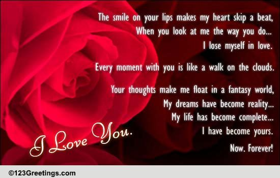 When I Am In Love With You! Free Poems ECards Greeting