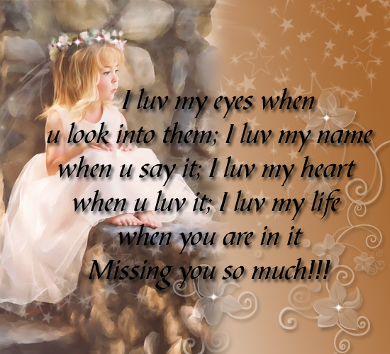 Miss You Free New Love ECards Greeting Cards 123 Greetings